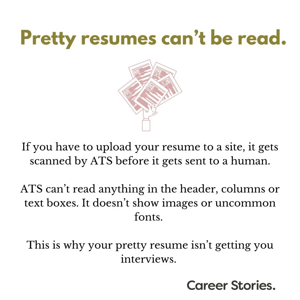 pretty resumes can u0026 39 t be read