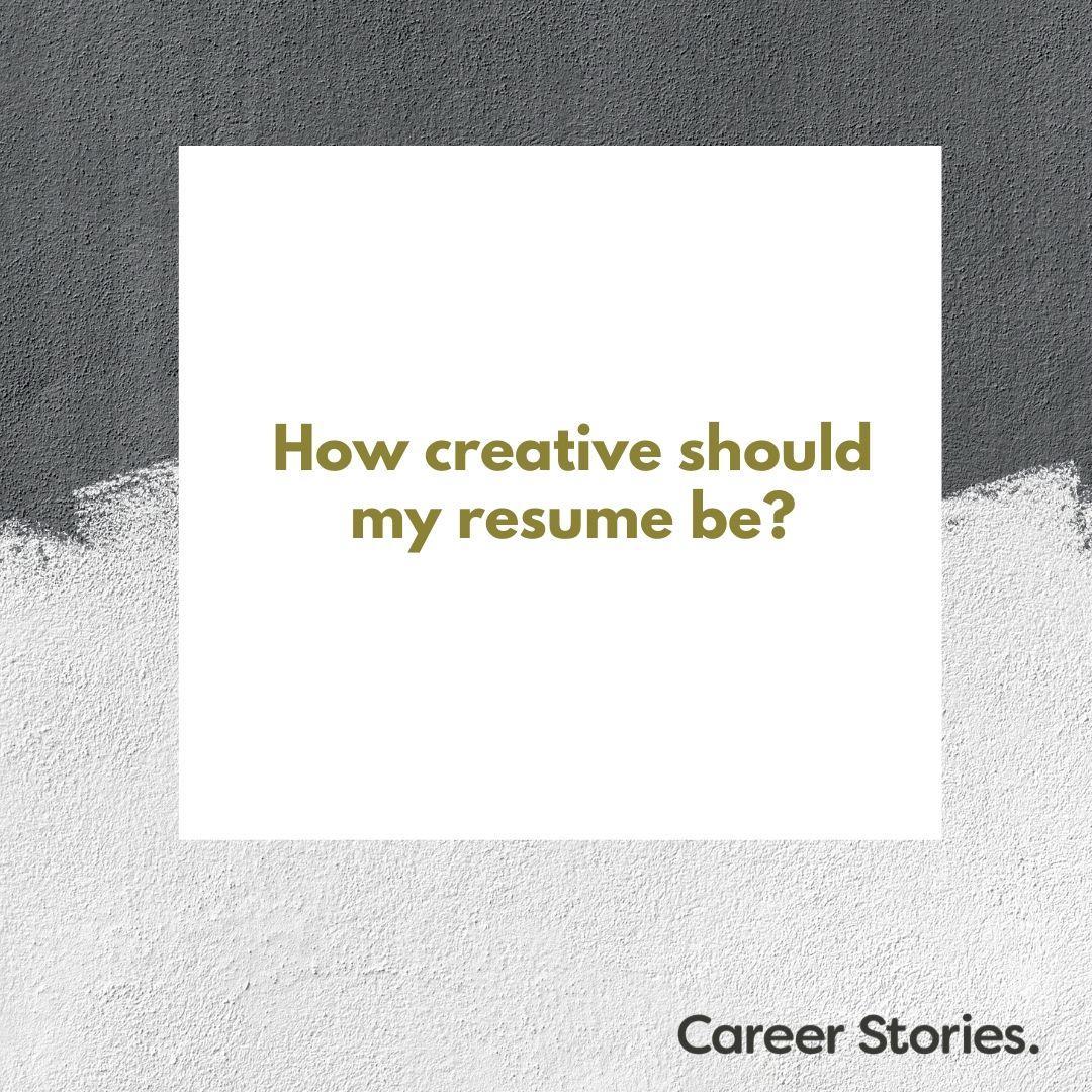 resume creative resume