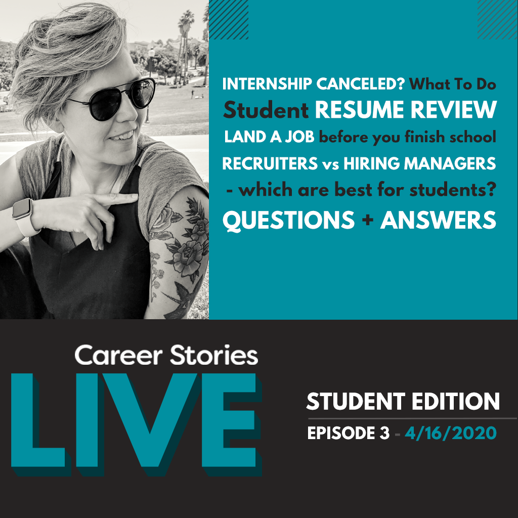 new grad covid 19 career stories live