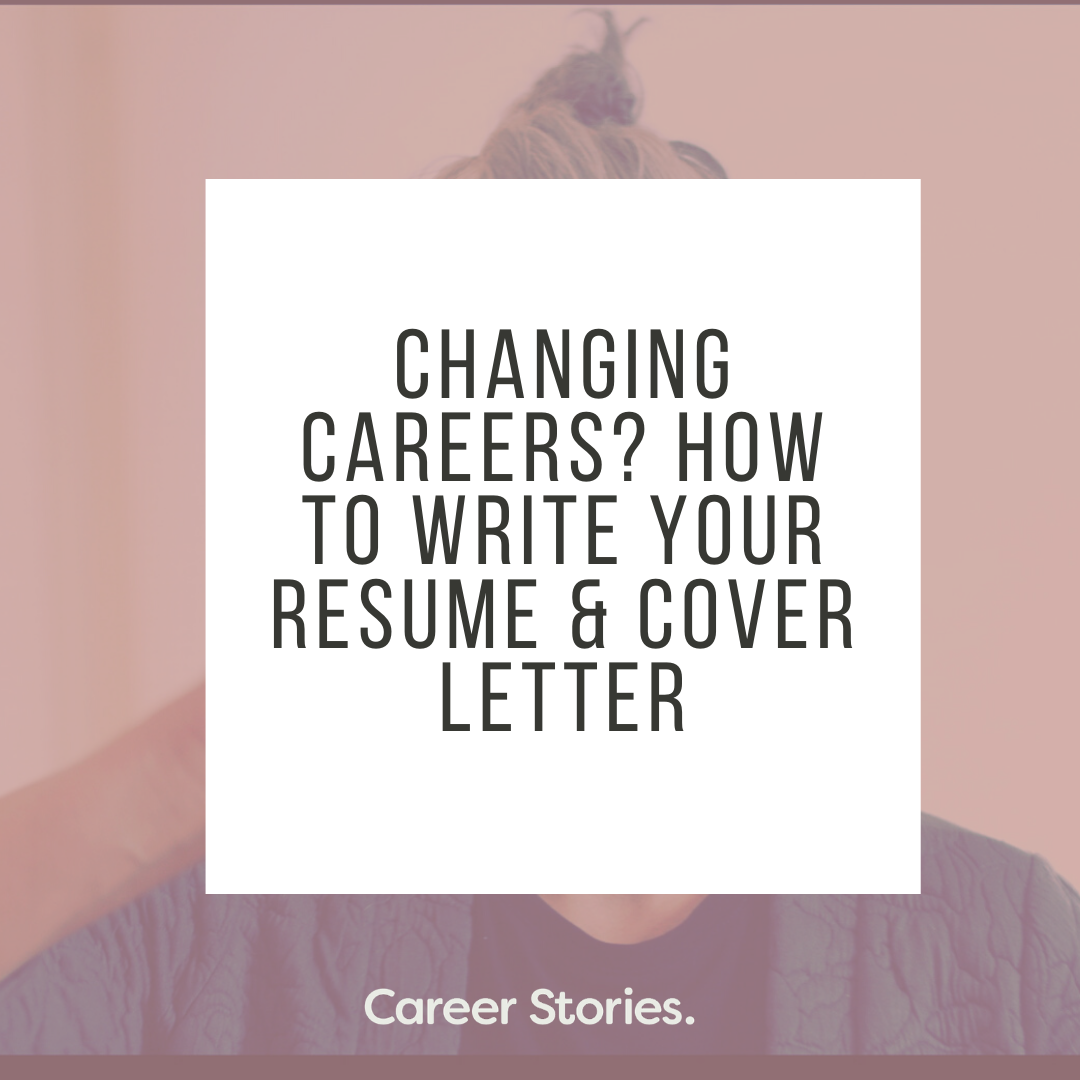 changing careers how to write resume and cover letter